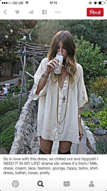 blouse dress t-shirt boho chic bohemian grunge dress hippie hipster dress cute dress