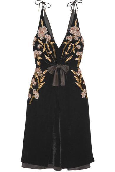 Altuzarra - Lisabetta embellished embroidered velvet dress
