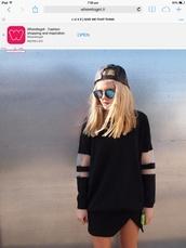 sweater,black,mesh,jumper,skirt