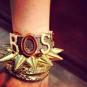 jewels,gold,spikes,bracelets