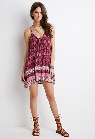 dress rosé pink print red pretty summer pink dress beautiful dresses