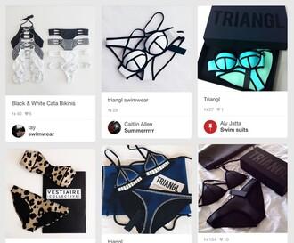 swimwear triangl black neoprene vue boutique