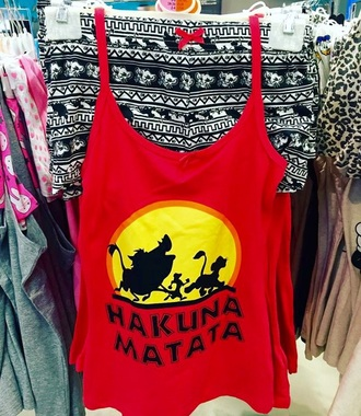 pajamas hakuna matata disney the lion king