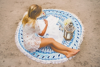 scarf round beach towel beach towel blue towel dress lace dress mini dress summer dress summer outfits beach dress beach
