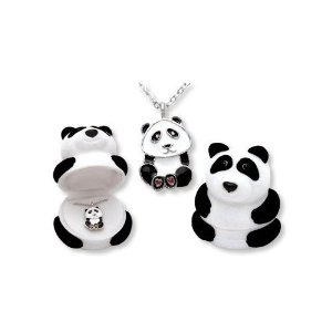 Amazon.com: Panda Bear Pendant Necklace in Figural Gift Box: Jewelry