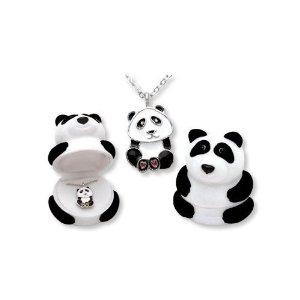 Amazon.com: Panda Bear Pendant Necklace in Figural Gift Box: Jewelry