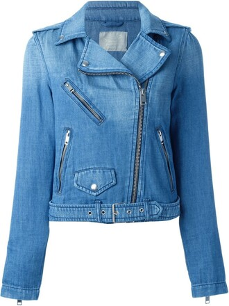 jacket biker jacket denim blue