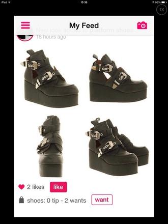 shoes pale soft grunge grunge fashion creepers platform shoes high heels cute pastel goth tumblr black jeffrey campbell platform boot