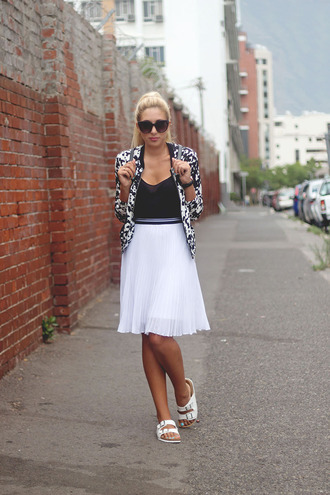 superficial girls blogger skirt jacket bag jewels sunglasses