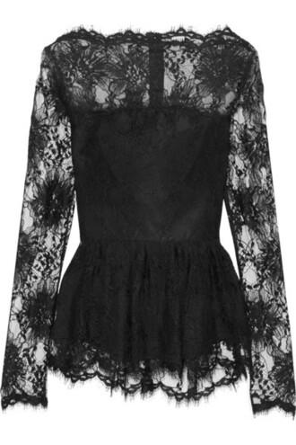top peplum top lace black