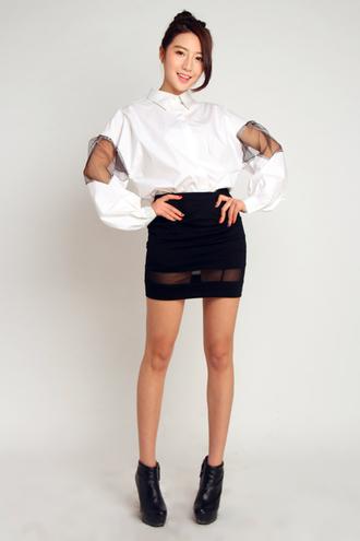 korea korean fashion stylenanda shirt t-shirt top blouse mcclaugherty philippines koreanfashion asianfashion stylenandaoverrun retro mosaic minimalist skirt