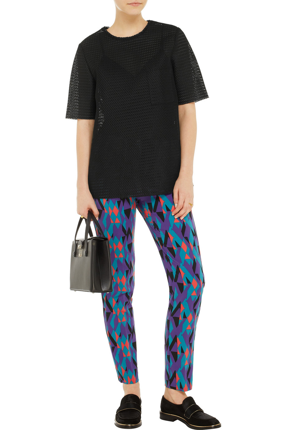 M Missoni Geometric-print twill straight-leg pants – 55% at THE OUTNET.COM