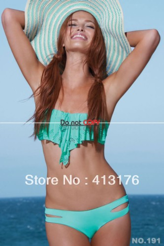 2013 new Fashion Brand Tassel Bra Woman Sexy Bikini Set PAD Swimsuits Sport Fringe Top Swimwear Beachwear Ruffled Trim Bandeau-in Bikinis Set from Apparel & Accessories on Aliexpress.com