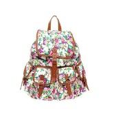 bag,floral,backpack,guatemala,leather,handmade,handstitched,esperanto,colorful