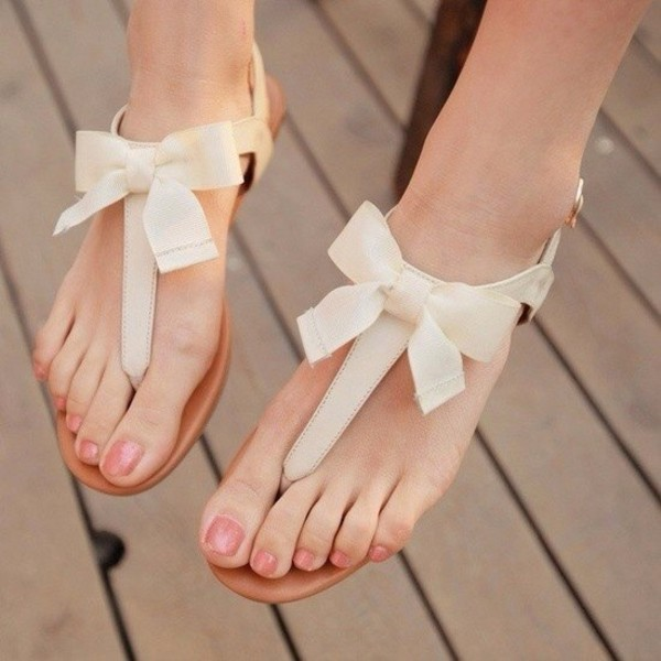shoes white sandals bow