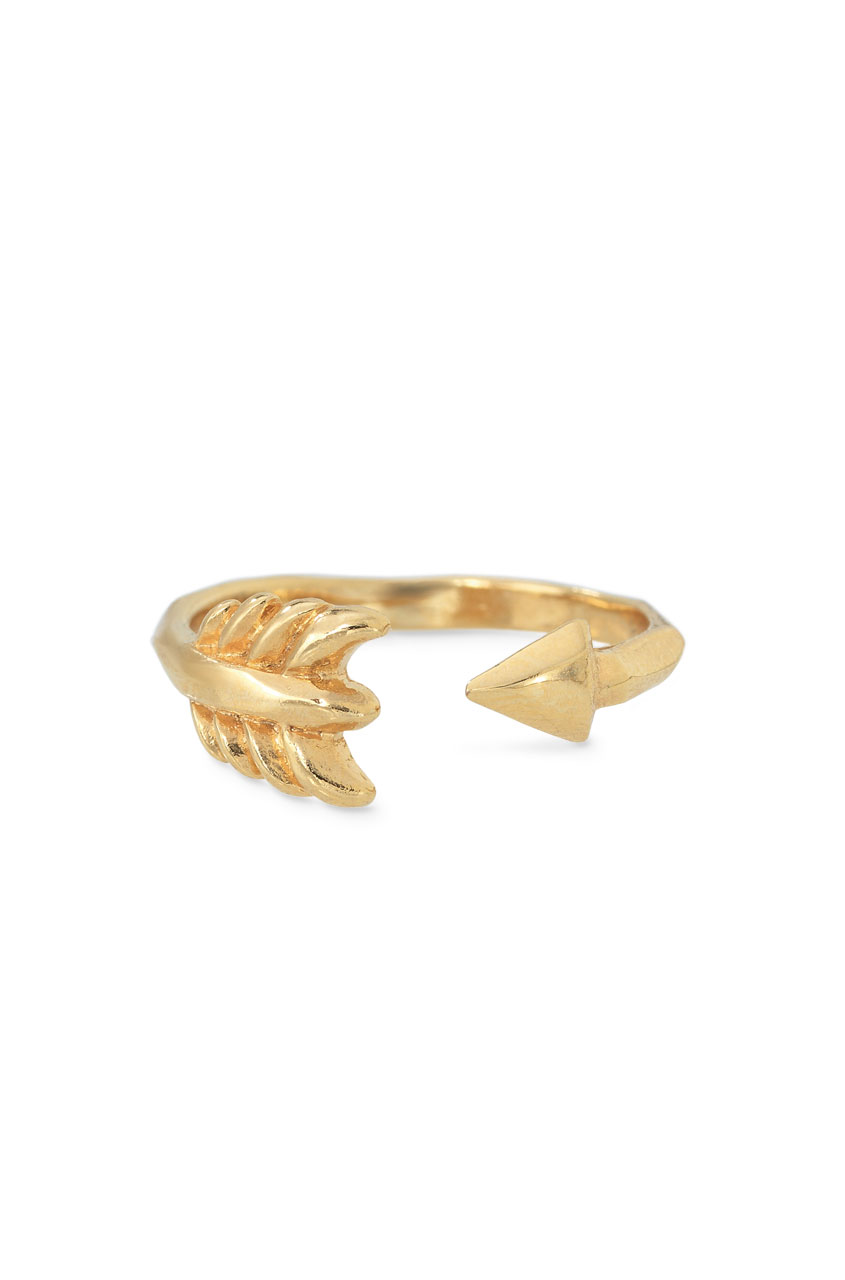 Adjustable Gold Arrow Ring | Gold Gilded Arrow Ring | Stella & Dot