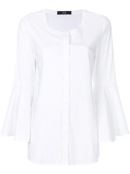 Steffen Schraut shirt women spandex white cotton top