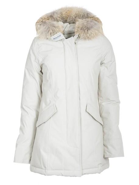 Woolrich parka white coat