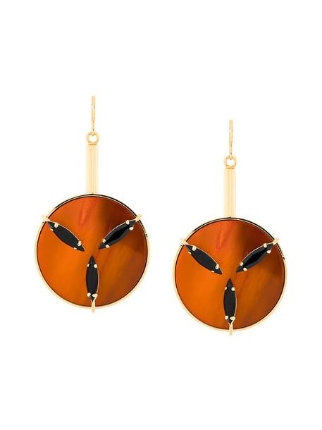 MARNI metal women earrings yellow orange jewels