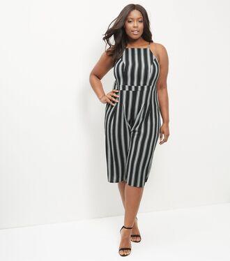 jumpsuit culottes stripes curvy
