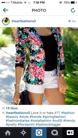 jacket floral print jacket floral prints spring outfits fashion