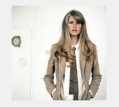 jacket,blazer,tan blazer,classic,tomboy shirt,skinny tie,thin tie,neutral colors,menswear,boyish,androgeny,androgenous,tomboy/femme,tomboy,shirt,scarf