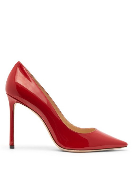 Jimmy Choo - Romy 100 Patent Leather Pumps - Womens - Red