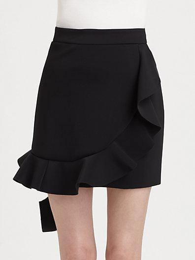 J.W. Anderson - Neoprene Ruffle Skirt - Saks.com