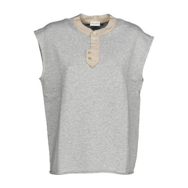 Saint Laurent sweatshirt sleeveless grey sweater