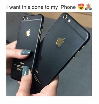 phone cover black gold iphone6 iphone6case iphone cover iphone 6 case
