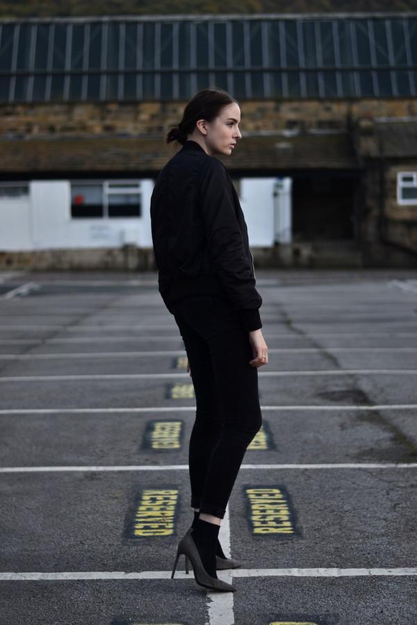 shot from the street blogger jeans t-shirt jacket socks