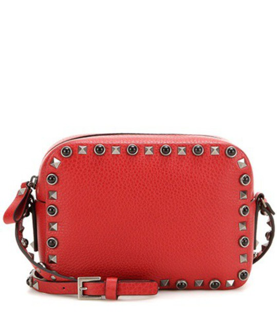 Valentino noir bag shoulder bag leather red