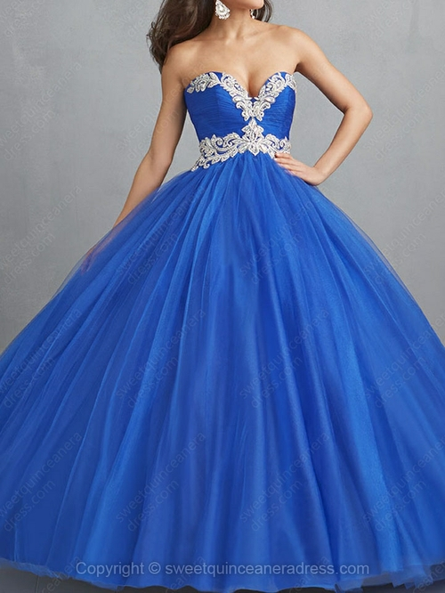 Length embroidery quinceanera dresses with various styles