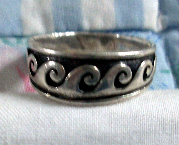 Ring  eternity  waves  graduated    sterling by moonchild111