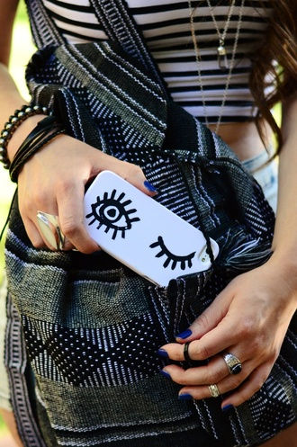phone cover eyes cover grunge blue
