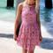 Sarasota embellished high neck lace rose swing dress – amazing lace