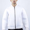 White foam bomber jacket