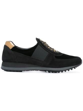 metallic women sneakers leather suede black velvet shoes