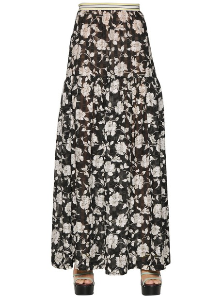 I'M ISOLA MARRAS skirt floral white black