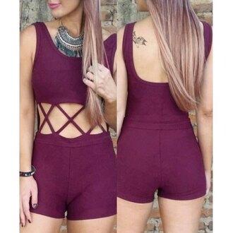 romper rose wholesale burgundy burgundy dress boho cute outfits sleeveless bodycon style