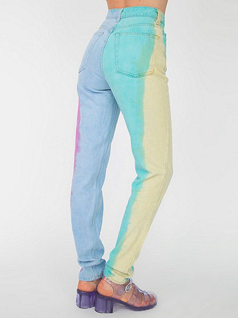 Rainbow High-Waist Jean | American Apparel