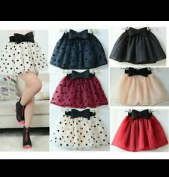 polka dots cute skirts tutu dress perfect bow skirts bows please help me!
