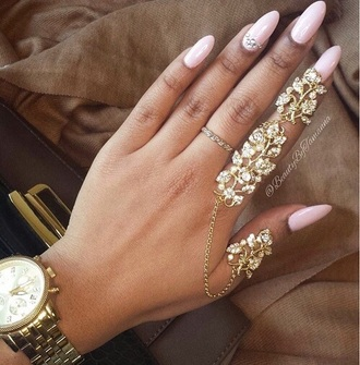 nail accessories gold ring ring tumblr gold mid finger rings fashion tumblr outfit jewels