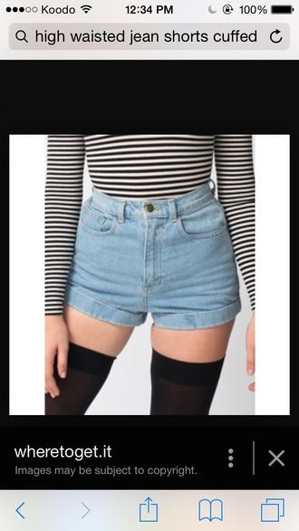 shorts denim cuffed shorts high waisted shorts