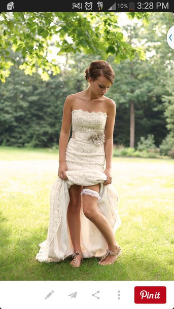 dress wedding dress hipster wedding lace dress cream