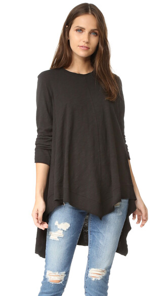 tunic black top