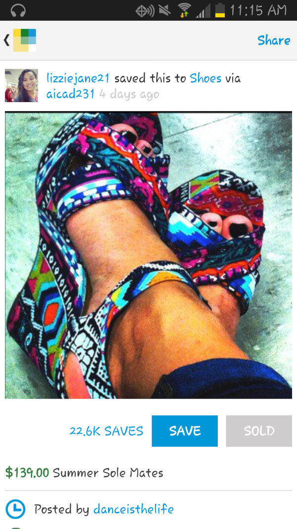 shoes tribal pattern