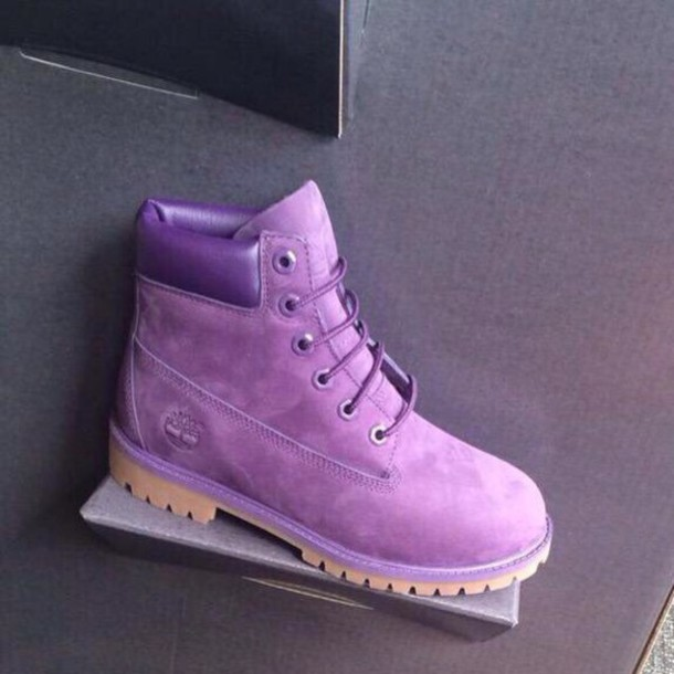 Shoes: purple, light purple, lilac, timberland ...