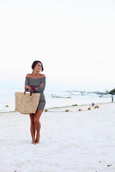 seams for a desire blogger bag striped dress