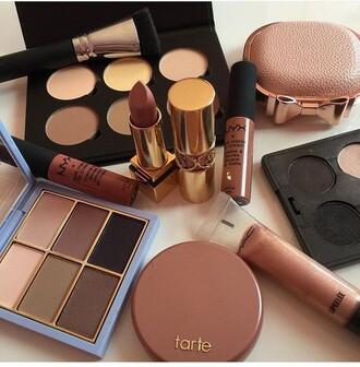 make-up mac cosmetics makeup palette nyx nyxcosmetics lipstick lip gloss tarte autumn make-up palette